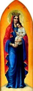 Рукописная икона Рожковская Спасительница