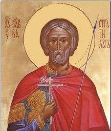 Рукописная икона Савва Стратилат купить с доставкой