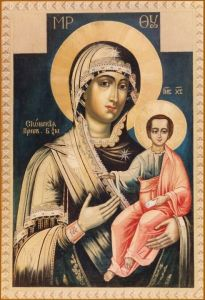 Рукописная икона Сионская