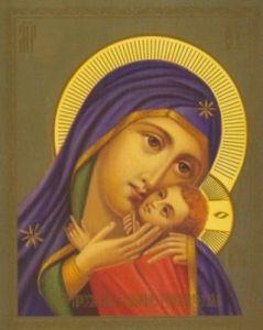 Рукописная икона Тервеническая