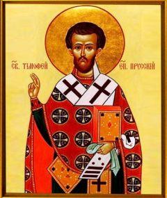 Рукописная икона Тимофей Прусский купить с доставкой