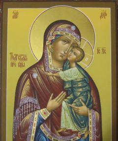Рукописная икона Толгская