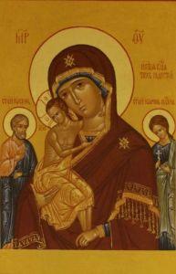 Рукописная икона Трех Радостей купить с доставкой