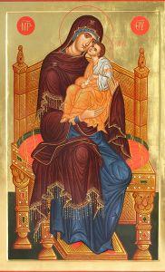 Рукописная икона Тронная купить с доставкой