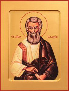 Рукописная икона Фаддей Апостол купить с доставкой