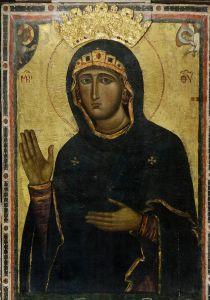 Рукописная икона Халкопратийская Агиосоритисса