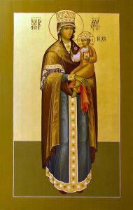 Рукописная икона Цареградская