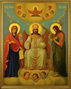 Рукописная икона Царь Царем купить с доставкой