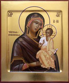 Рукописная икона Чирская Псковская