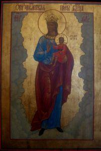 Рукописная икона Численская
