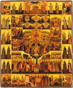 Рукописная икона Шестоднев купить с доставкой