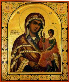 Рукописная икона Шуйская Смоленская купить с доставкой