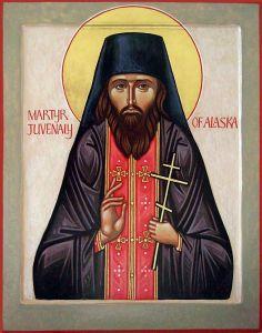 Рукописная икона Ювеналий Аляскинский купить с доставкой