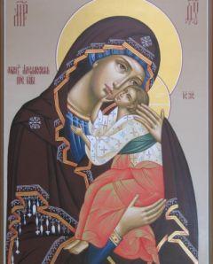 Рукописная икона Ярославская купить с доставкой
