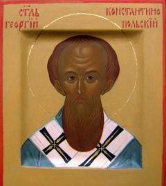 Рукописная икона Георгий Константинопольский купить с доставкой