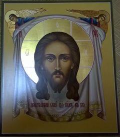 Рукописная икона Спас Нерукотворный купить с доставкой