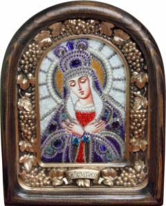 Икона из бисера Остробрамская купить с доставкой