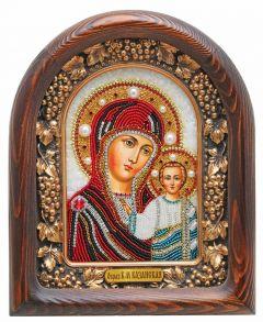 Икона из бисера Казанская Божья Матерь купить с доставкой