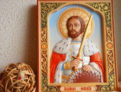 Резная икона Александр Невский купить с доставкой