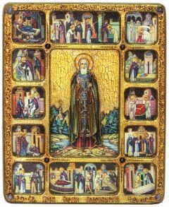 Икона Сергий Радонежский с Житием купить с доставкой