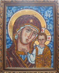 Казанская икона Божией Матери из мозаики в Багете купить с доставкой