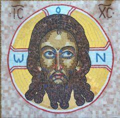 Икона из мозаики Спас Нерукотворный купить с доставкой