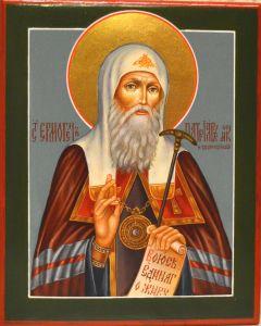 Рукописная икона Ермоген (Гермоген) Патриарх Московский купить с доставкой