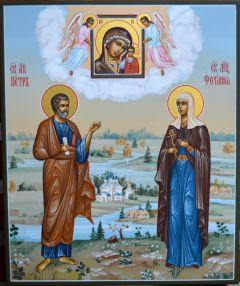 Семейная икона Петр и Фотиния купить с доставкой