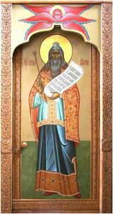 Рукописная икона Святой Аарон Первосвященник купить с доставкой