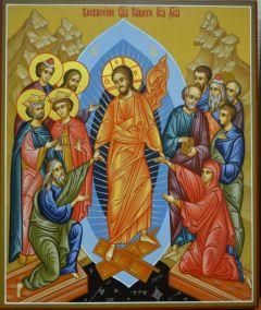 Рукописная икона Воскресение Христово купить с доставкой