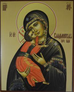 Рукописная Владимирская икона Божией Матери купить с доставкой