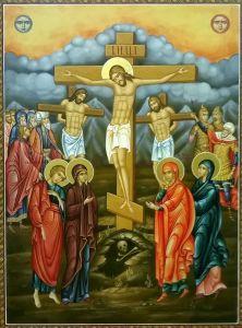 Рукописная икона Распятие  купить с доставкой