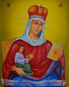Рукописная икона Михайловская купить с доставкой