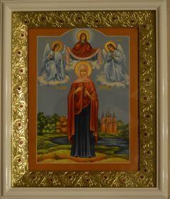 Рукописная икона Святая Анна Пророчица