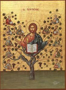Рукописная икона Истинная Лоза купить с доставкой