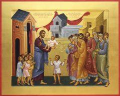 Рукописная икона Благословение детей купить с доставкой