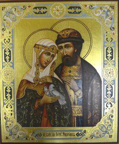 Рукописная икона Святых Петра и Февронии Муромских 36 купить с доставкой