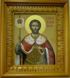 Рукописная икона Святой Алекасандр Невский купить с доставкой