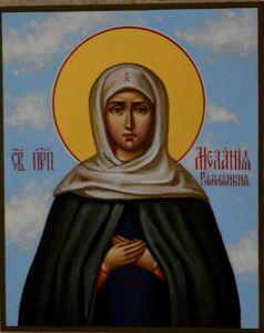 Рукописная икона Мелания Римляныня