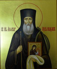 Рукописная икона Святой Леонид Устьнедумский купить с доставкой