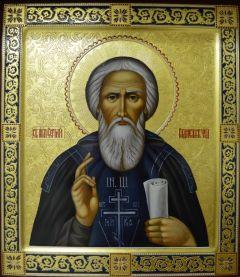 Рукописная икона преподобный Сергий Радонежский купить с доставкой