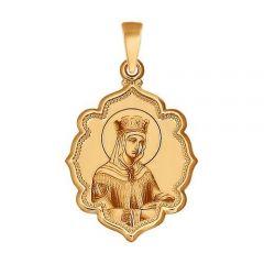 Золотая иконка царица Елена купить с доставкой