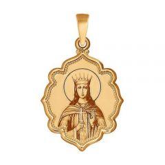 Золотая иконка великомученица Екатерина купить с доставкой