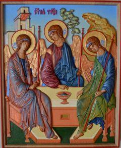 Резная икона Святая Троица 2 купить с доставкой