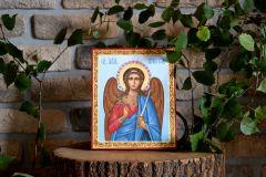 Рукописная икона Ангел Хранитель  купить с доставкой