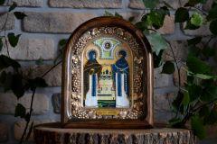 Икона из бисера Петр и Феврония купить с доставкой