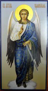 Рукописная икона Ангела Хранителя купить с доставкой
