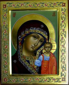 Казанская икона Богородицы с ковчегом и резьбой купить с доставкой