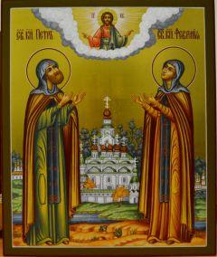 Икона Петр и Феврония Муромские 35 купить с доставкой