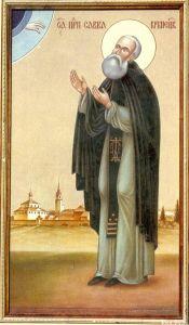 Рукописная икона Савва Крыпецкий